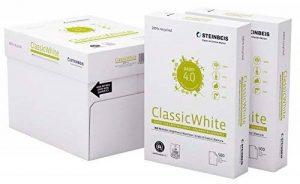 Steinbeis ClassicWhite DIN A4–5 x 500 feuilles – Blanc – Papier multifonction – 80 g/m² de la marque Steinbeis image 0 produit