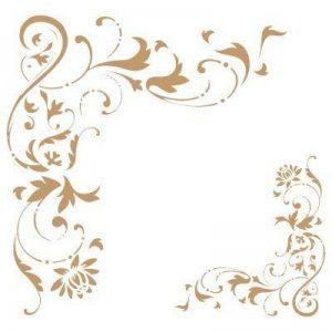 Stencil Deco Borders 027 Corner Filigree. Stencil size: 20x20 cm (7,9x7,9 in). Design size: 14,1x13,6 cm (5,6x5,4 in) by TODO-STENCIL de la marque TODO-STENCIL image 0 produit