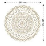 Stencil mural Roseton 001. Mesures: mesure extérieure du Stencil: 30 x 30 (cm) mesure du motif: 28 x 28 (cm) de la marque TODO-STENCIL image 2 produit