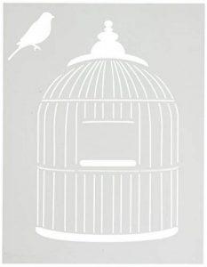 Stencil1 21,5cm x 28cm Pochoir Cage à Oiseaux, Acrylique, Multicolore de la marque Stencil1 image 0 produit