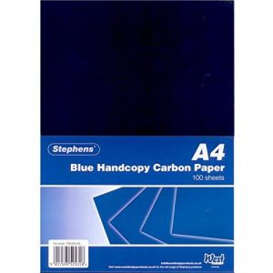 Stephens Pack de 100 feuilles de papier carbone manuel Bleu de la marque Stephens image 0 produit
