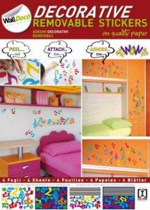 Sticker mural Notes, Musical Notes Taille a3cm Stickers muraux 4feuilles autocollantes, décoration murale de la marque empireposter image 0 produit