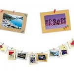 STONCEL Kit de décoration murale avec cadres photos, mini pinces à linge et autocollants Pour photos 10 x 15 cm de la marque STONCEL image 2 produit