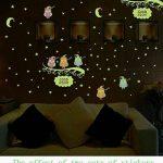 Stonges Enfants Fluorescent Autocollants Hibou Lumineux Star Moon Autocollants BRICOLAGE Libre Combinaison Autocollants Envoyer Papier Léger de la marque Stonges image 2 produit