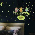 Stonges Enfants Fluorescent Autocollants Hibou Lumineux Star Moon Autocollants BRICOLAGE Libre Combinaison Autocollants Envoyer Papier Léger de la marque Stonges image 4 produit