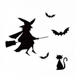 Style de Halloween amovible Wall Sticker sorcière blanche et Cat Bar magasin Déc de la marque Blancho image 0 produit