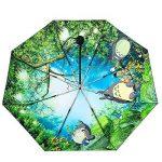 Style Japonais Miyazaki Hayao Dragoncat Anti-UV Pliage En Trois Revêtement En Vinyle 8 Côtes 210T Imperméable Coupe-vent Coupe-vent Renforcé Cadre Anti-Slip Poignée Caoutchoutée Compact Voyage Parapluie ,Manual de la marque DFFDD image 1 produit