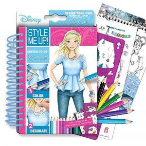 Style Me Up Sketch-to-go–Cendrillon avec pochoirs, Stickers et Pensils de la marque Style Me Up image 0 produit