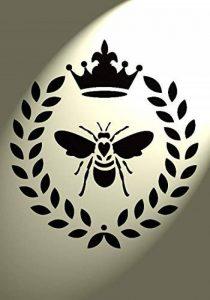 Style shabby chic Pochoir Bumble Bee Couronne Cœur rustique vintage Mylar A4 297 x 210 mm meubles Art mural de la marque Solitarydesign image 0 produit