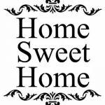Style shabby chic rustique Pochoir Motif cœur Inscription Home Sweet Home Style vintage art mural A4297x 210mm de la marque Solitarydesign image 1 produit