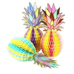 SUNBEAUTY Ananas Decoration Papier Deco Suspendre pour Summer Party Fete Carnaval Chambre Salle 3 pcs/kit de la marque SUNBEAUTY image 0 produit