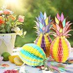 SUNBEAUTY Ananas Decoration Papier Deco Suspendre pour Summer Party Fete Carnaval Chambre Salle 3 pcs/kit de la marque SUNBEAUTY image 1 produit