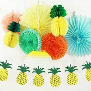 SUNBEAUTY Deco Ananas Jaune Papier Rocace Lanterne Summer Tropical Party Chambre Maison Fete Decoration de la marque SUNBEAUTY image 0 produit