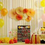 SUNBEAUTY Lot de 7 Rosaces Papier Orange Déco Anniversaire Baby Shower Baptême Mariage Noel Nouvel An … de la marque SUNBEAUTY image 1 produit