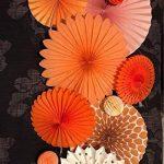SUNBEAUTY Lot de 7 Rosaces Papier Orange Déco Anniversaire Baby Shower Baptême Mariage Noel Nouvel An … de la marque SUNBEAUTY image 2 produit