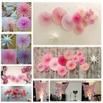 SUNBEAUTY Rosette Papier Rose Party Decoration Photo Backdrop Décor Anniversaire Mariage Saint Valentin Baby Shower de la marque SUNBEAUTY image 1 produit