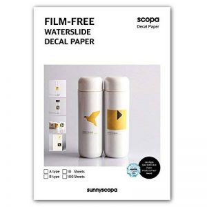 Sunnyscopa Film-Free Laser Decal papier A4 Type B 10 feuilles de la marque Sunnyscopa image 0 produit