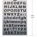 Sunswei 8pcs Bullet Journal Pochoir Définit, Lettre de l'alphabet Dessin Peinture Pochoirs Template pour planning/ordinateur portable/agenda/Scrapbooking/Journalisation)/Graffiti/carte Dessin Peinture projets d'artisanat de la marque SUNSWEI image 4 produit