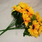 Superbes tournesols en soie artificielle avec feuilles 14 tête tombe home fleurs de printemps de la marque A1-Homes image 1 produit