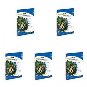 superInk - KIT 5 boîtes (20 feuilles par rame) Papier Photo Brillant superInk (glossy) pour les imprimantes à jet d'encre (Brother, Canon, Epson, Canon, HP, Lexmark) - 180 gr/m² - A6 (101,6x152,4 mm) de la marque superInk image 0 produit