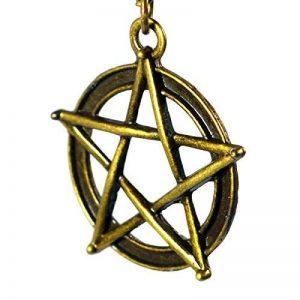 Supernatural collier avec breloques pentagramme style Antique bijoux de mode chaîne Wear wicca collier pendentif médaillon Bronze de la marque BR image 0 produit