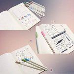 Surblue 20pcs Bullet Ensemble Pochoir Journal Planner Pochoir pour la création de cartes de Journalisation), scrapbooking, DIY et projets artistiques de la marque SURBLUE image 3 produit