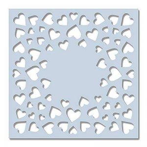 Sweet Dixie Pochoir 15,2x 15,2cm–Confettis coeurs, Off/blanc de la marque Sweet Dixie image 0 produit