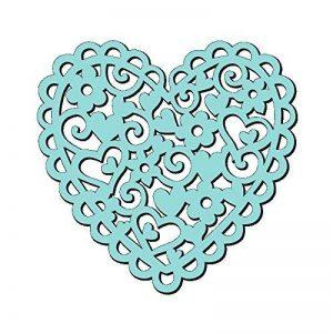 Sweet Dixie Pochoir Motif cœur et fleurs, 15x 15cm, transparent de la marque Sweet Dixie image 0 produit