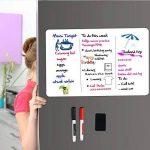 Tableau Blanc Magnétique A3+ pour Frigo-AntiTaches,Tableau Mémo Aimanté pour Planning Semaine Menu Listes De Courses Organisateur Cuisine et Notes de Bureau,Tableau d'écriture pour Enfants et Adultes Inclut 2 Stylo Marqueur et 1 Effaceur de la marque AOSO image 2 produit