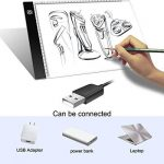 Tablette Lumineuse - TooTwo A4 Ultramince Portable Lumineuse Dessin LED USB Rechargeable Avec Luminosité Réglable, 3.5 MM Dessin Pad de Mémoire Intelligente pour les Artistes de Cadeau Dessin Croquis Animation Pochoir de la marque TooTwo image 3 produit