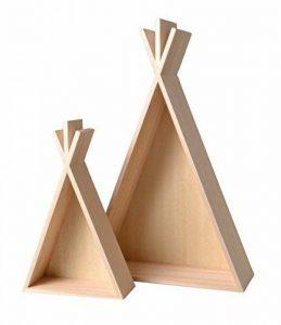 Étagère en bois Tipi 2 pièces - Artémio de la marque Artémio image 0 produit