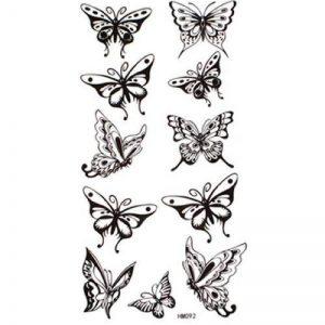 Tatouage temporaire non - toxique imperméable SPESTYLE stickersWaterproof et transpirer tatouages temporaires sexy papillon noir de la marque SPESTYLE image 0 produit