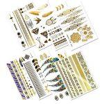 Tatouages Temporaires – Meersee 10 Planches de Tatouages éphémères métalliques Étanche brillants motifs variés de la marque Meersee image 3 produit