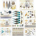 Tatouages Temporaires – Meersee 10 Planches de Tatouages éphémères métalliques Étanche brillants motifs variés de la marque Meersee image 4 produit