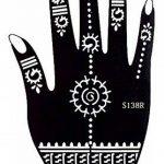 Tattoo Lot de 6pochoirs Kit Henna Designs Usage Unique pour les mains Tigris 6 de la marque Beyond Paradise image 3 produit