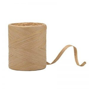 Tenn-Outdoors bien 199,3 m raphia papier craft ruban, 1/10,2 cm Largeur Craft Ficelle de papier d'emballage (Kraft) de la marque Tenn Well image 0 produit