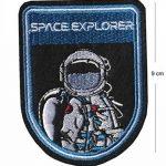 Tenner. London - Lot de 7écussons brodés thermocollants à repasser/à coudre - Motif astronaute, NASA, agence spatiale, vaisseau spatial, explorateur de la marque TENNER.LONDON image 1 produit