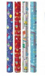 The Big Card Company Lot de 4 rouleaux de papier cadeau Motif en anglais Happy Birthday de la marque The Big Card Company image 0 produit