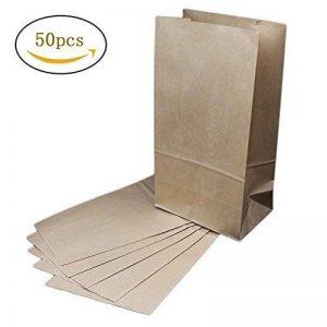 The Young® Lot de 50sacs papier grand cadeau sacs en papier kraft brun marron de la marque The Young image 0 produit