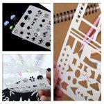 Tian Pochoirs Peinture Kit avec Sac de Toile Exquis -24pcs 7.0 x 4.1 Inches Plastique Pochoir Stencil Dessin Peinture Set pour Bullet Journal / Planner / Portable / Agenda / Scrapbooking de la marque Tian image 6 produit