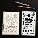 Tian Pochoirs Peinture Kit avec Sac de Toile Exquis -24pcs 7.0 x 4.1 Inches Plastique Pochoir Stencil Dessin Peinture Set pour Bullet Journal / Planner / Portable / Agenda / Scrapbooking de la marque Tian image 4 produit