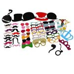 TinkSky 60pcs Accessoires Photobooth Masquerade Accessoires de Photos Lèvre/ Lunettes/ Cravate/ Couronne/ Lunettes/ Moustache Avec Bâton de la marque TinkSky image 3 produit