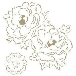 TODO-STENCIL Stencil Mini Deco Vintage Figurine 110 Fleurs. Mesure extérieure du Stencil: 12 x 12 cm mesure du design: 9,9 x 10,2 cm de la marque TODO-STENCIL image 0 produit