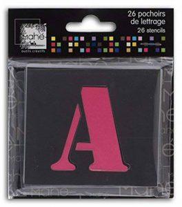 Toga LE17 Lot DE 26 Pochoirs Lettres Plastique Transparent 5 x 5 x 0,1 cm de la marque Toga image 0 produit