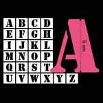 Toga LE17 Lot DE 26 Pochoirs Lettres Plastique Transparent 5 x 5 x 0,1 cm de la marque Toga image 1 produit