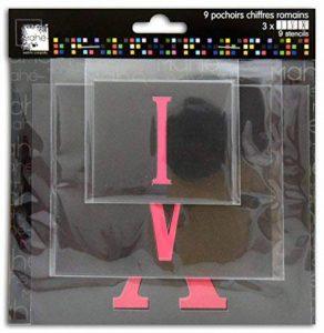 Toga LE22 18 Pochoirs Chiffres Romains Plastique Transparent 18x18.5x0.5 cm de la marque Toga image 0 produit