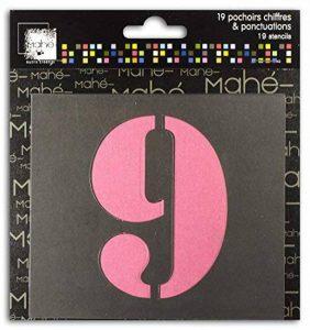 Toga Lot de Lot DE 19 Pochoirs Chiffres Plastique Transparent 9 x 9 x 0,1 cm de la marque Toga image 0 produit