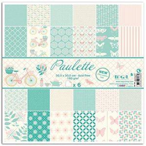 Toga Paulette Lot DE 6 Feuilles Imprimées, Autre, Multicolore, 31 x 32 x 0.5 cm de la marque Toga image 0 produit