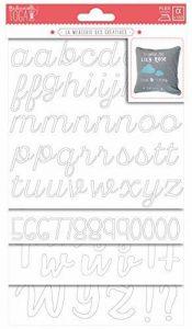 Toga Planches de Lettres et Chiffres Thermocollants, Autre, Blanc, 15.5 x 27.5 x 0.2 cm de la marque Toga image 0 produit