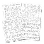 Toga Planches de Lettres et Chiffres Thermocollants, Autre, Blanc, 15.5 x 27.5 x 0.2 cm de la marque Toga image 1 produit